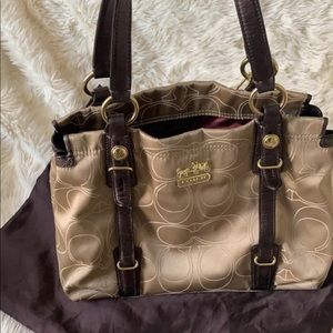 Coach Signature Outline Madison Carryall